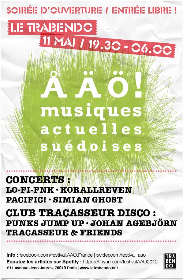 Soirée d'ouverture au Trabendo le 11 mai 2012 ! Entrée gratuite, de 19.30 à l'aube !